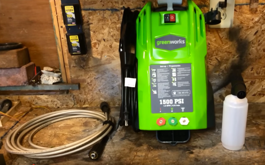 greenworks 1500 psi power washer