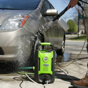 greenworks 1500 psi can wash cars