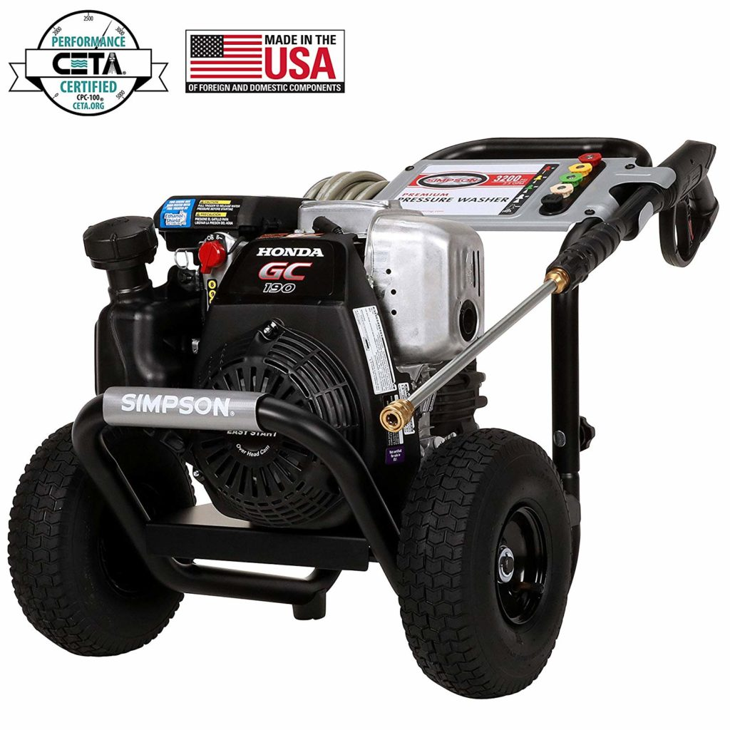 This is the Simpson MSH3125 Megashot gas powered pressure washer