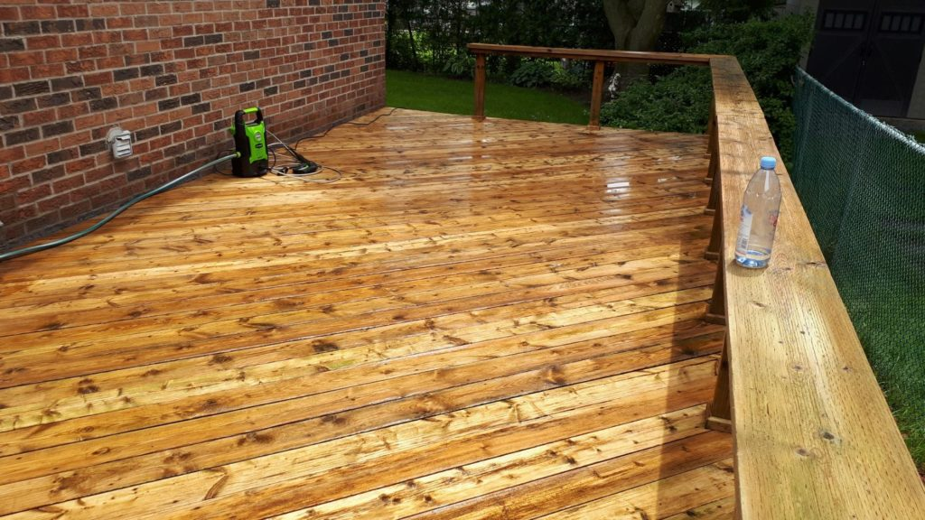 deck after being pressure washed